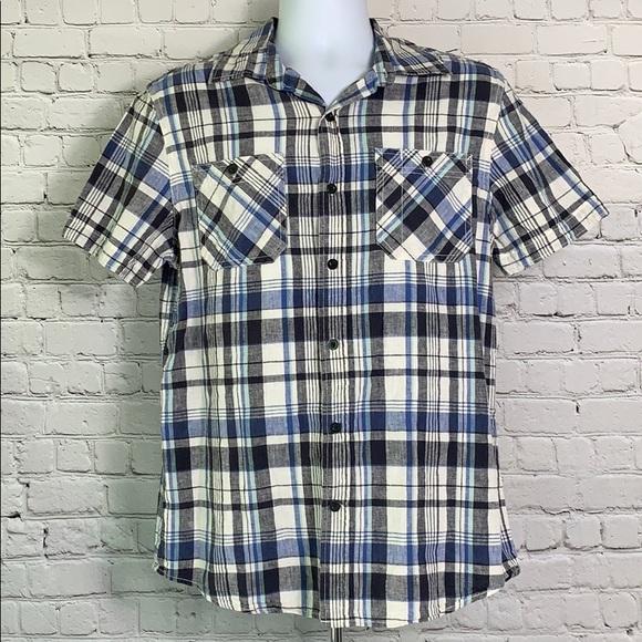 Converse Men's Medium Button Down Flannel Shirt